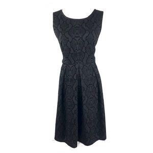 Calvin Klein dress 6 black velvet fit and flare